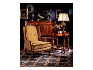 Ferrara side table 856, Luxury klassische Lampe Tisch in Holz geschnitzt