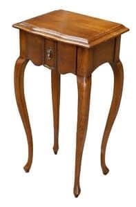 Gabriele FA.0140, Holztisch mit einer Schublade, Luxus im klassischen Stil