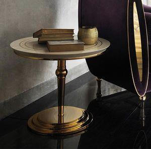 SIPARIO Couchtisch 2, Klassischer Couchtisch mit runder Platte