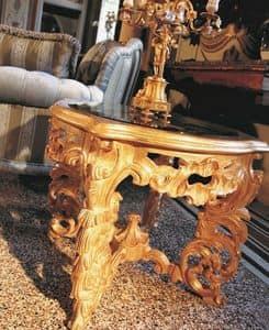 Opera kleinen Tisch, Tischchen für die Mittelhalle, geschnitzt, klassischen Luxus-Stil