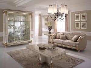 Liberty Couchtisch, Couchtisch für Wohnzimmer, Holz von Hand verziert, für Luxus- Möblierung