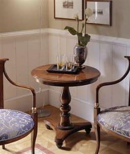 M 504, Couchtisch eingelegt, in Nussbaum, für Klassiker Wohnzimmer