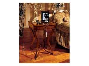 Marika Beistelltisch 739, Klassische quadratischen Couchtisch aus Holz