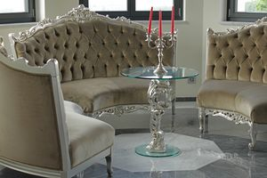 Oscar Holz und Glas, Runder Tisch für Luxushotel