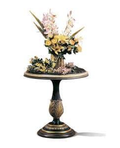 Vulcano B/1625/E, Runde geschnitzten Tisch für Luxushotel