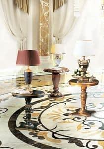 Vulcano, Beistelltisch mit runder Platte, klassischen Stil