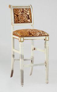 BS023B - Hocker, Klassischer Hocker mit griechischer Dekoration