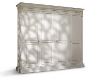 4070, Klassischer Kleiderschrank mit vier Türen
