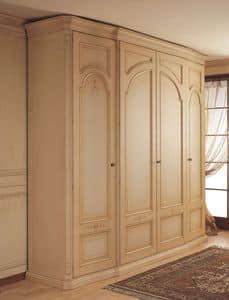 Art. 1130 Luxor, Kleiderschrank mit gekrümmten Seitentüren, für klassische Schlafzimmer