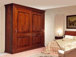 Art. 2004/952/2 2 doors, Luxuriöse Einbauschränke, Schiebetüren mit Einlage, für klassische Schlafzimmer