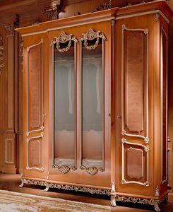 Art. 800/W1, Klassischer Luxus-Kleiderschrank mit Spiegeln