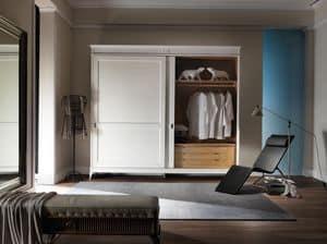 Art. CA717, Kleiderschrank mit 2 Schiebetüren, in luxuriösen Stil