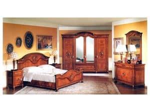 DUCALE DUCSP / Schrank mit 4 Türen, Holz Kleiderschrank mit Spiegeltüren, für Schlafzimmer