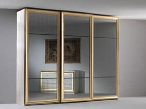 Jolie Kleiderschrank, Elegante Garderobe, drei verspiegelten Schiebetüren, für das Schlafzimmer