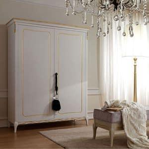 Live 5304 armadio, Kleiderschrank für Schlafzimmer, klassischen Stil, aus Holz mit 2 oder 4 Türen