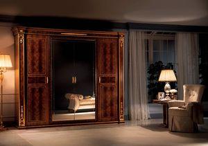 Modigliani Kleiderschrank mit 4 Türen, Empire-Stil Kleiderschrank