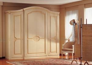 Raffaello, Luxury klassische Schrank, handgefertigten Dekorationen, für Schlafzimmer Möblierung