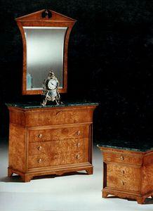 2465 Kommode, Klassische Kommode mit grüner Marmorplatte