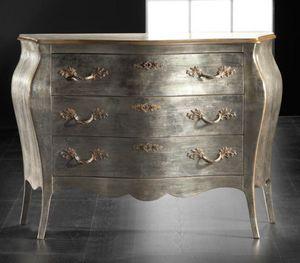 Art. 20484, Silberne Kommode aus Holz