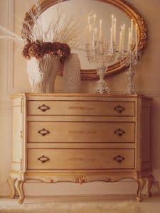 Art. 5335, Lackierte Kommode mit Goldordnung für luxuriöse Zimmer
