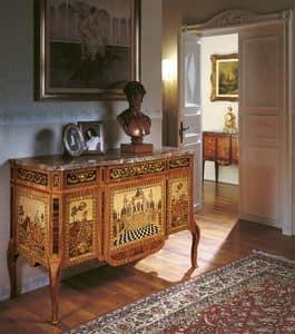 Art. 90, Klassischer Luxus Kommode mit Intarsien, für Eingangsraum