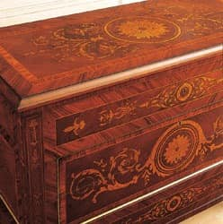 Art. 925 chest of drawers '700 Italiano Maggiolini, Handgeschnitzte Sideboard, mit eingelegten Schubladen, mit klassischen Stil