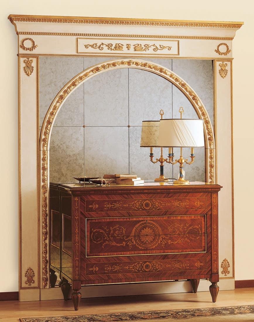 Art. 925, Antiken Stil Kommode Schubladen mit kostbaren Intarsien, für die Luxus-Zimmer