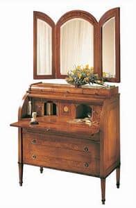 C179 Renoir, Bureau mit Klappe, aus massivem Nussbaum, klassischen Luxus-Stil