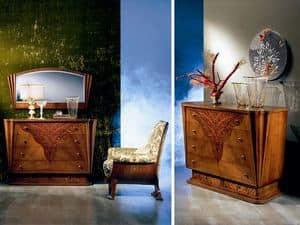 CO07 Fusion, Klassischer Luxus Dresser aus Massivholz, eingelegte Spitze