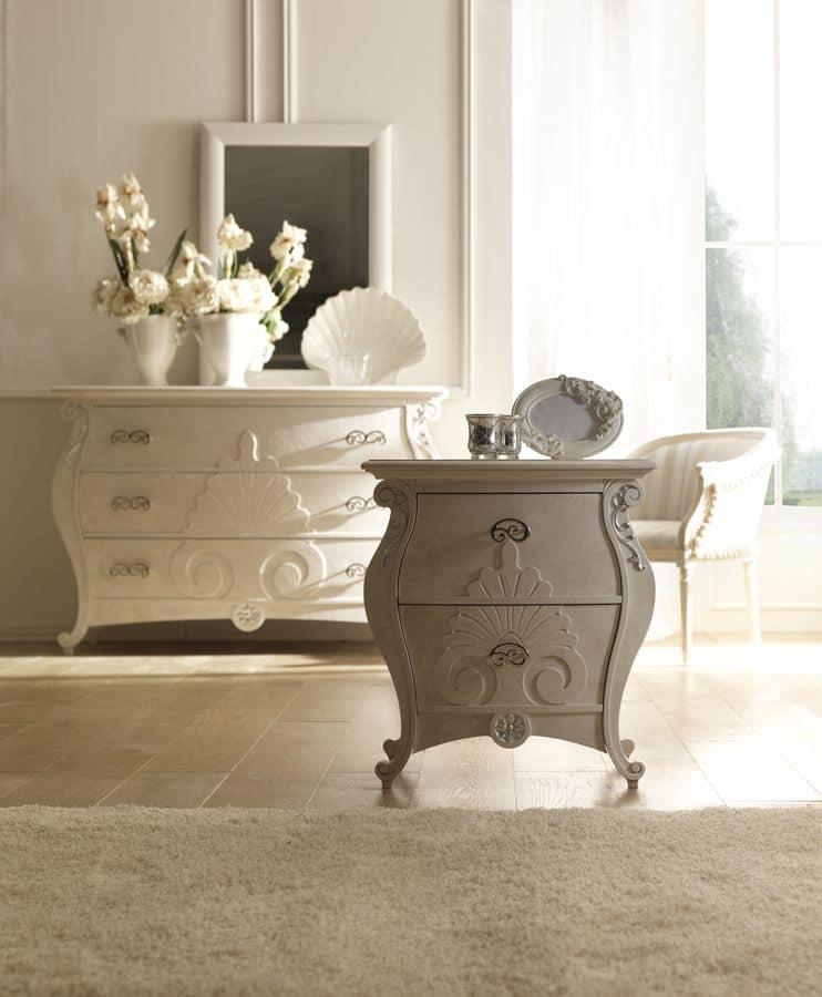kommode f r schlafzimmer im klassischen stil die von handwerkern geschnitzt idfdesign. Black Bedroom Furniture Sets. Home Design Ideas