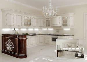 KT373, Klassische Küche, Marmorplatten, für klassische Villen