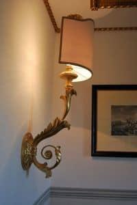 Lampe - Wandbrennerhalter ART. LM 0019, Klassische Wandleuchte für Luxus Hotels und Restaurants