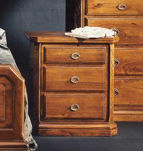 '800Nachttisch, Nachttisch für Schlafzimmer im klassischen Stil