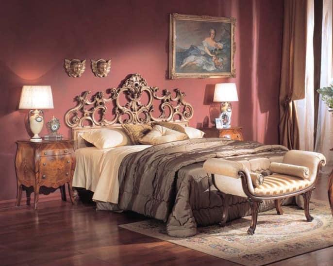 3245 NIGHT TABLE, Luxus klassischen Nachttisch mit 2 Schubladen, für Hotels