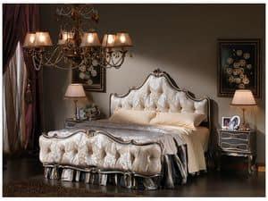 3465 NACHTTISCH, Krankenbett im Stil Louis XV, Cracrè Finish, für Schlafzimmer