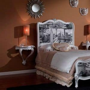 3615 NACHTTISCH, Nachttisch weiß lackiert für klassische Schlafzimmer