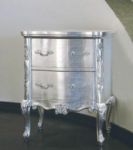 Art. 20508, Klassischer Nachttisch, Silber-Finish