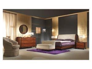 Art. 509 Nachttisch, Nachttisch in Palisander, für klassische Schlafzimmer