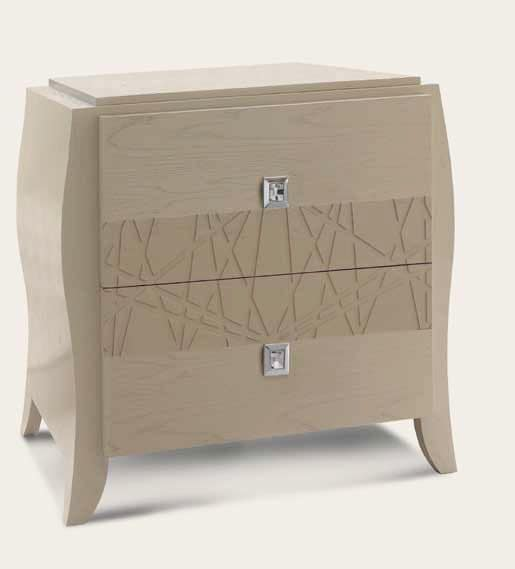 Art. 980 Nachttisch, Holz  Nachttische, Klassisch Modernen Stil, 2  Schubladen