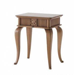 Art. CA723, Holz Nachttisch, im klassischen Stil, mit Schublade
