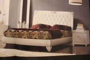 Art. IR094, Weiß lackiert Nachttisch, für Schlafzimmer im klassischen Stil