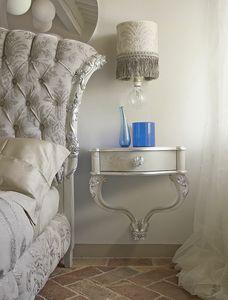 Carpi Nachttisch, Wand Nachttisch mit handgefertigten Dekorationen