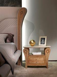 CD29B Charme, Nachttisch mit Marmorplatte, klassischer Stil