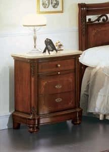 Gardenia Nachttisch, Nachttisch mit geschwungenen Front, in luxuriösen klassischen Stil