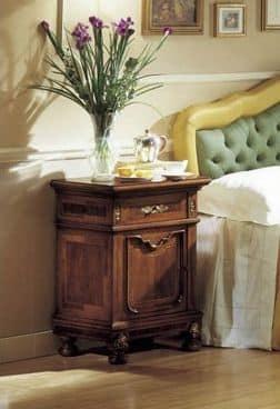 GRANDUCATO / Nachttisch, Nachttisch in Nussbaum für Schlafzimmer