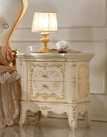 nachttisch in handgemachte holz f r luxus schlafzimmer idfdesign. Black Bedroom Furniture Sets. Home Design Ideas