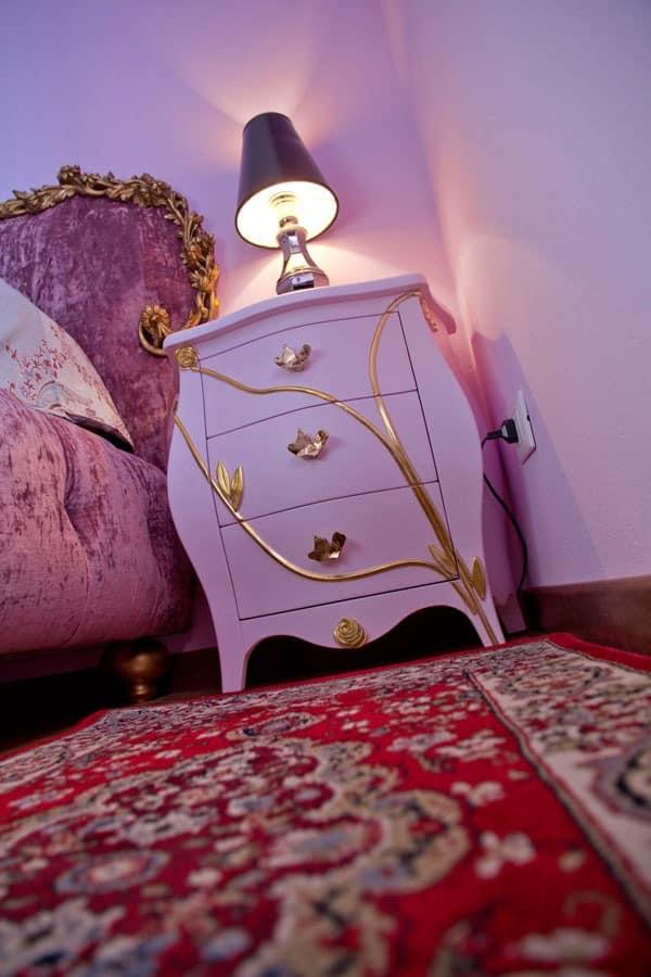 Nachttisch Grace B, 3 Schubladen Nacht im klassischen Stil