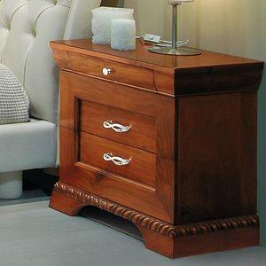 New '800 132/B, Geschnitzter Nachttisch im klassischen Stil