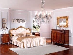OLIMPIA B / Nachttisch, Holz Nachttisch im klassischen Stil für Schlafzimmer
