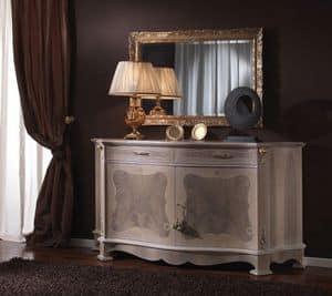 3640 CREDENZA, Klassisches Sideboard ideal für Wohnzimmer und Esszimmer